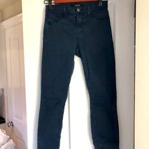 J Brand Luxe Sateen Carbon Blu Super Skinny Jeans